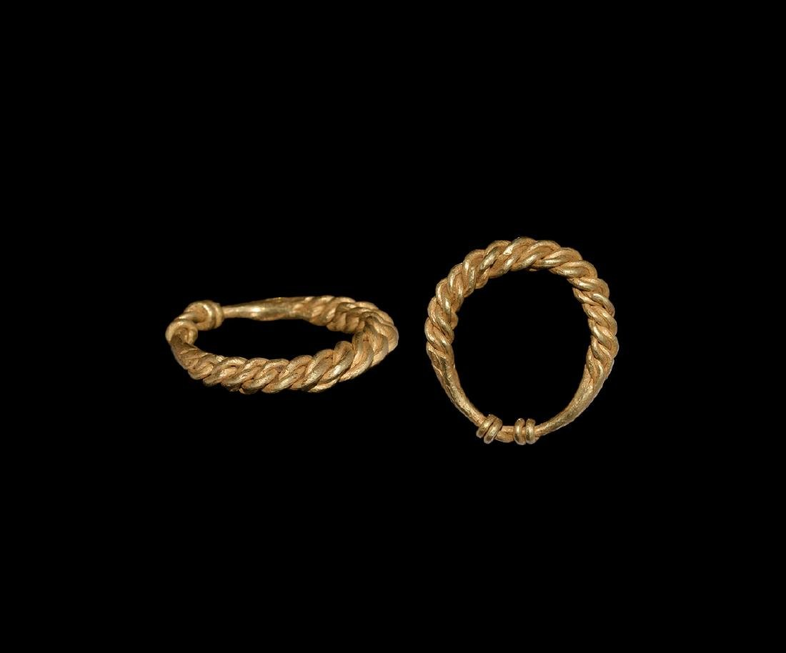 Viking Gold Braided Ring
