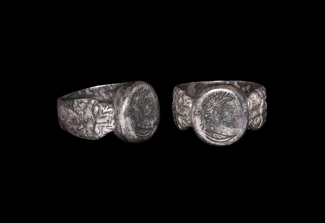 Medieval Ring with Classical Bust