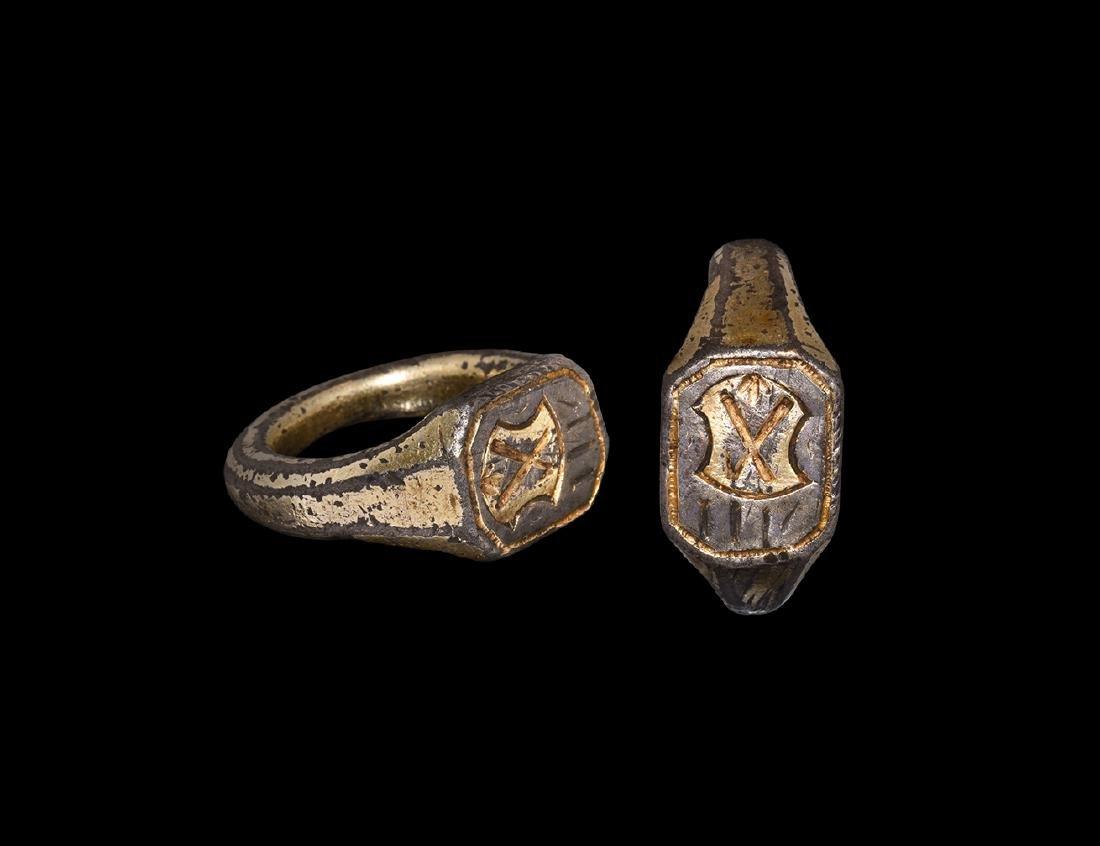 Tudor 'Burdon Family' Heraldic Signet Ring