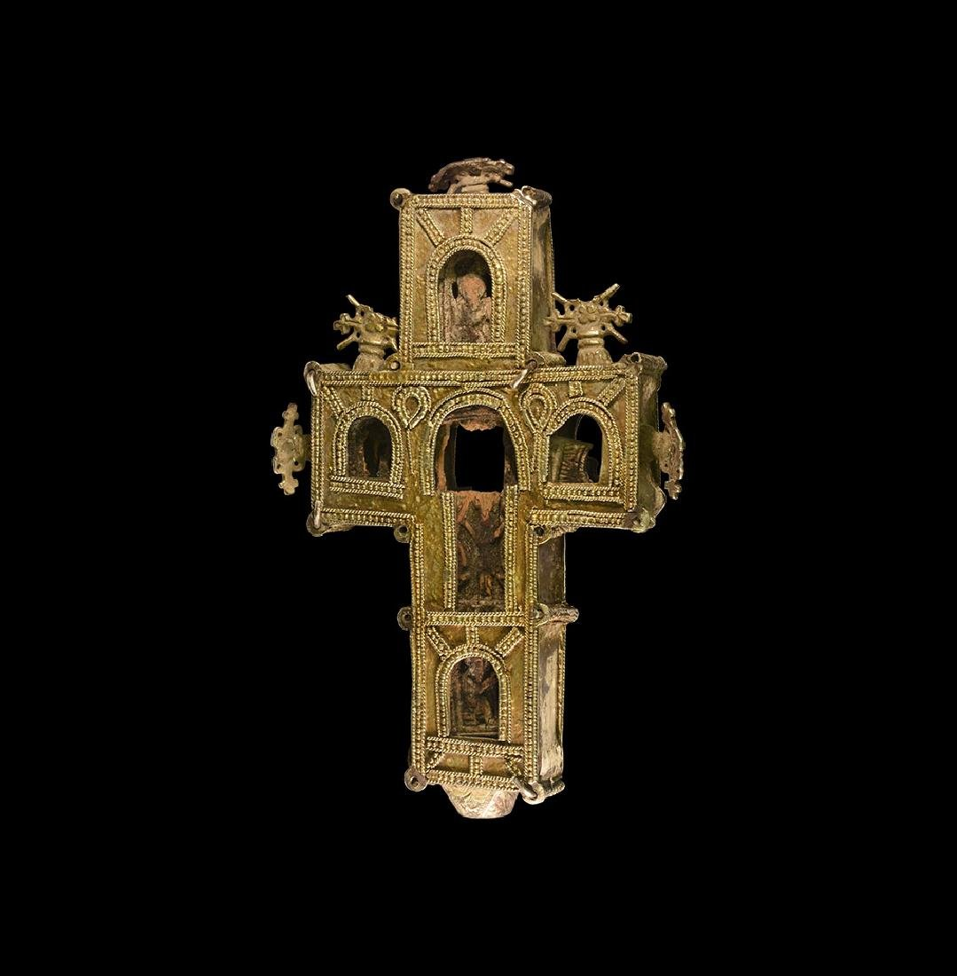Medieval Silver Reliquary Cross