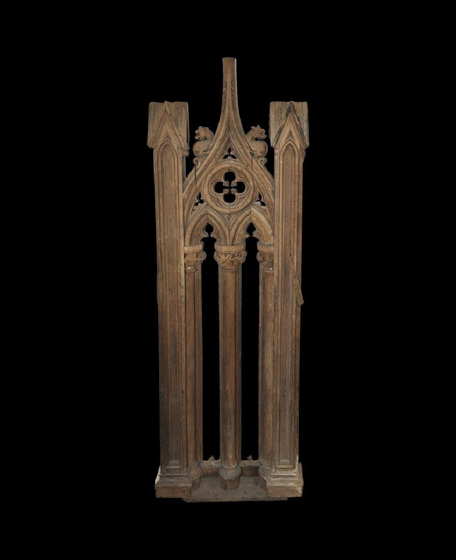 Post Medieval Gothic Pulpit Panel