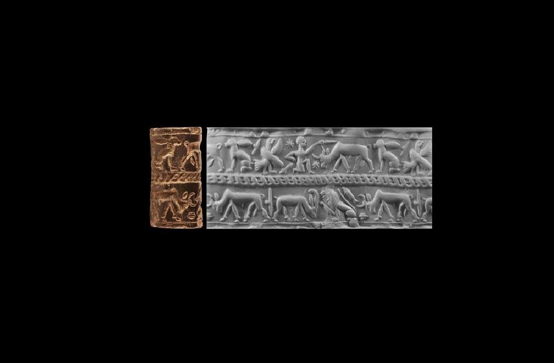 Babylonian Cylinder Seal with Sacrifice Scene