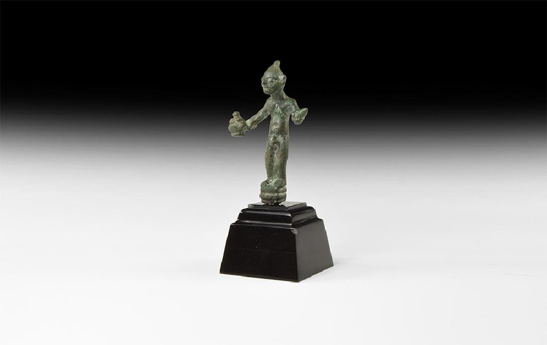 Canaanite Armed Naked Warrior Statuette