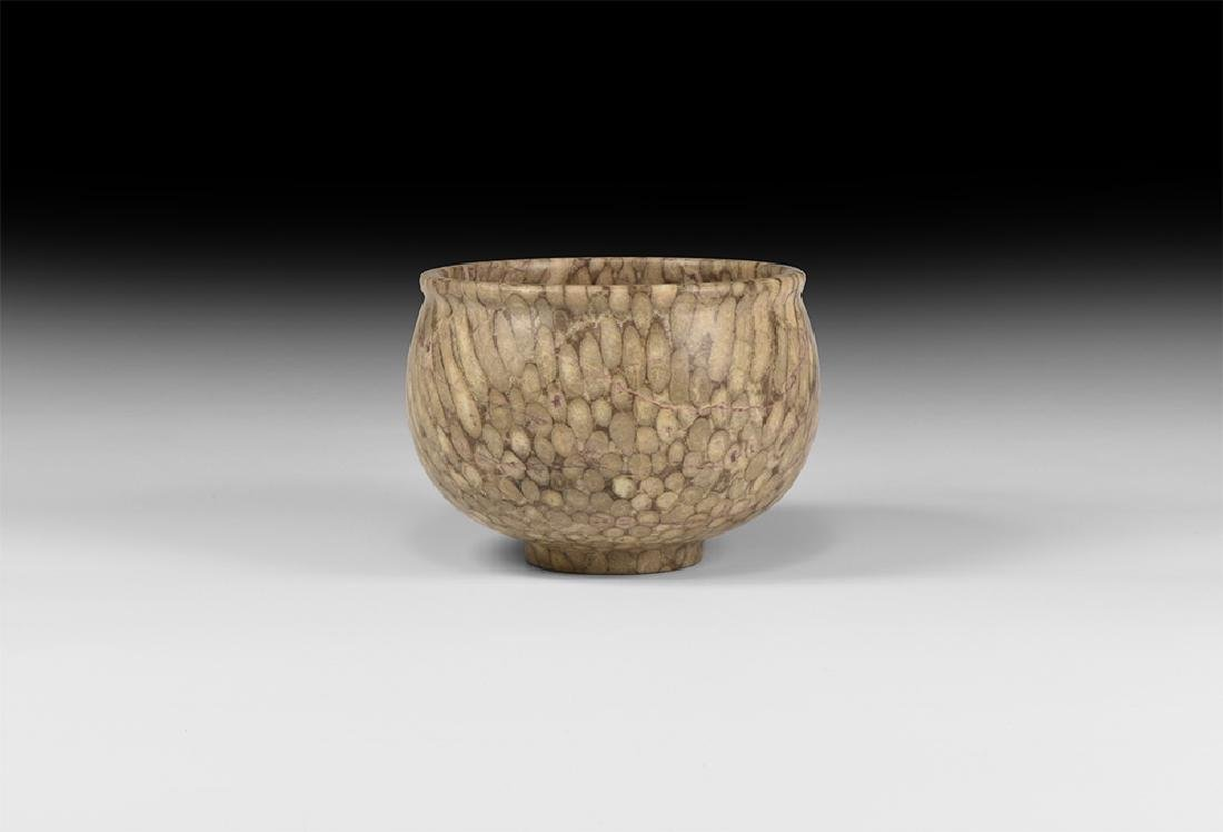 Central Asian Polished Carved Stone Cup