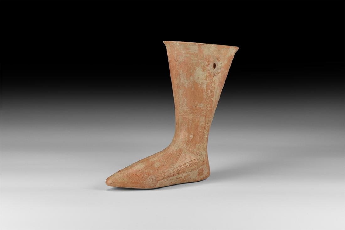 Western Asiatic Amlash Terracotta Foot Vessel