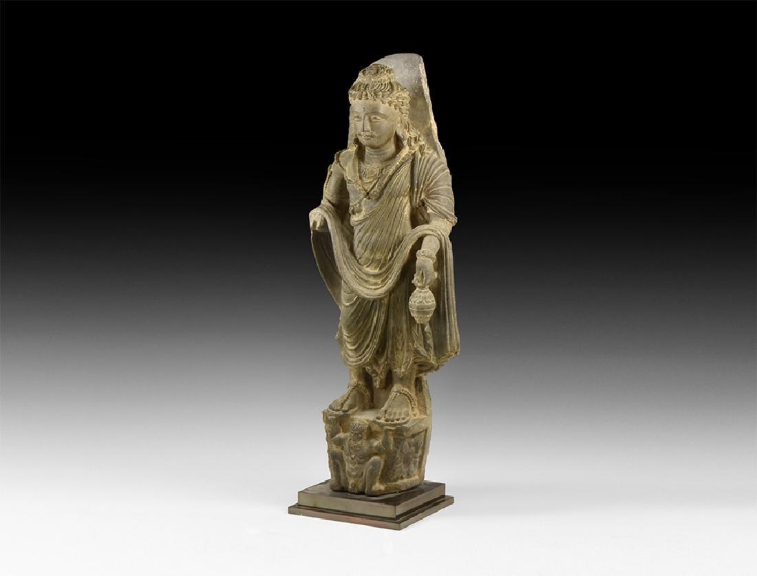 Gandharan Standing Maitreya Statue