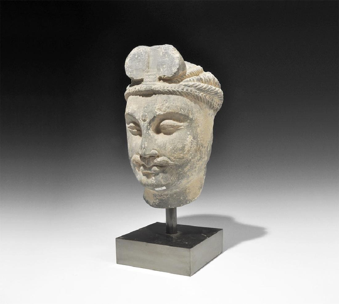 Gandharan Bodhisattva Head