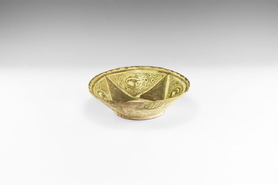 Indian Mughal Green Glazed Bowl