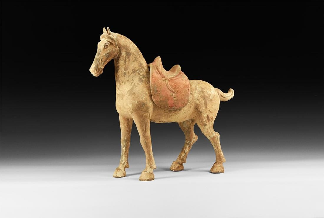 Chinese Tang Standing Horse Figurine