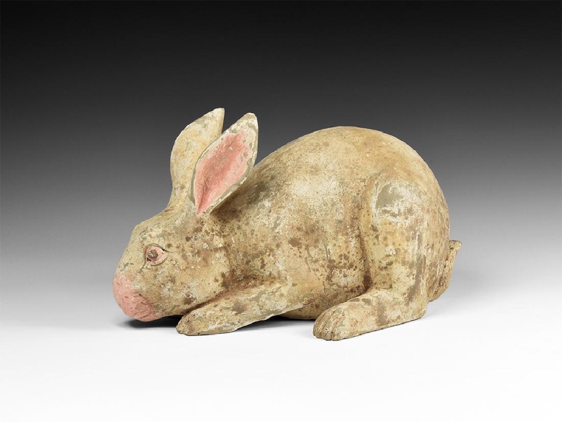Chinese Han Terracotta Rabbit