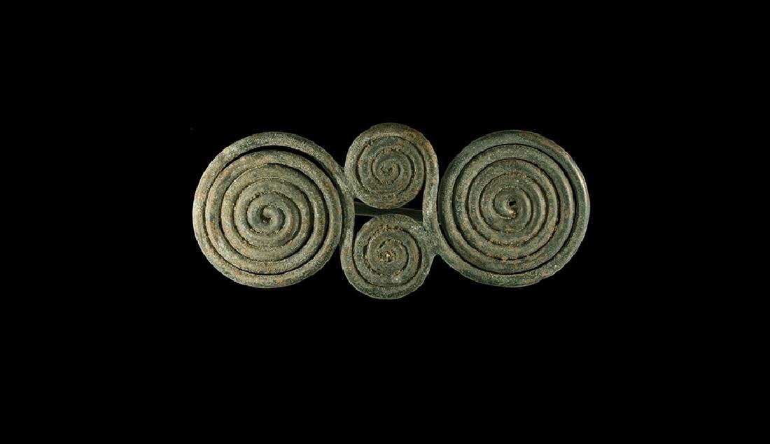 Bronze Age Spectacle Brooch