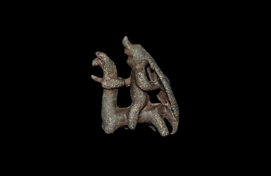 British Celtic Warrior Horseman Figurine