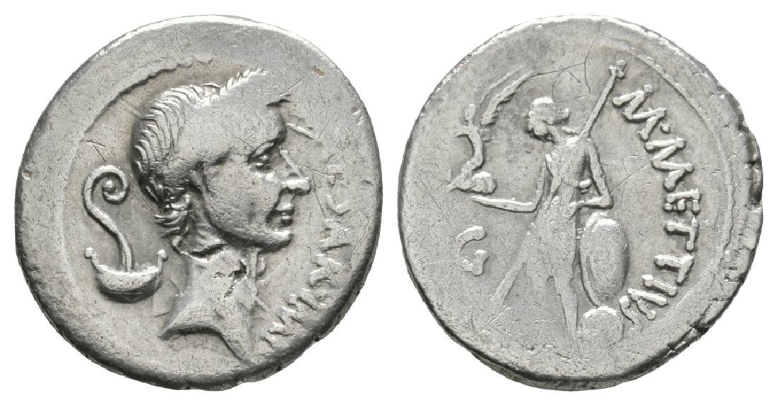 Julius Caesar - Marcus Mettius - Venus Denarius