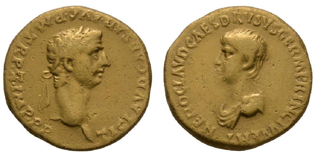 Claudius and Nero - Gold Portrait Aureus