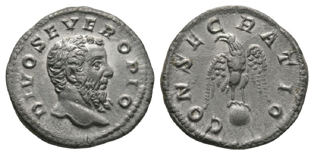 Septimius Severus - Eagle on Globe Denarius