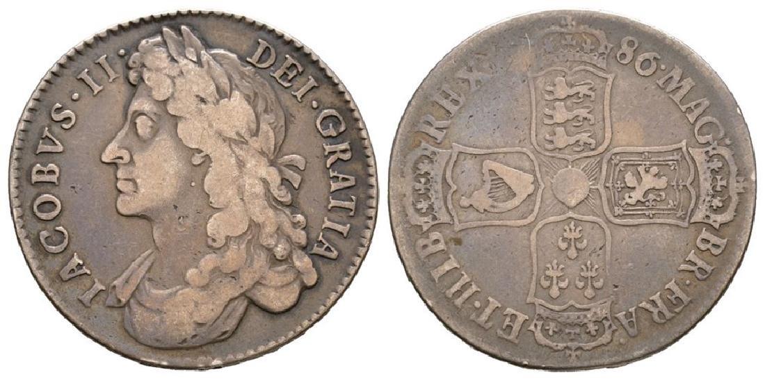 James II - 1686 TERTIO - Halfcrown