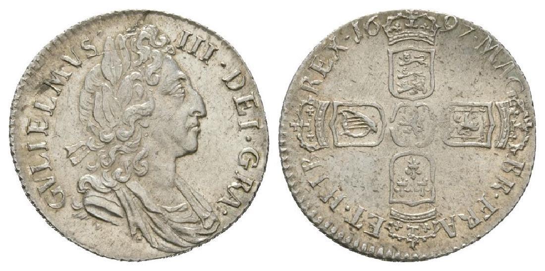 William III - 1697 - Sixpence