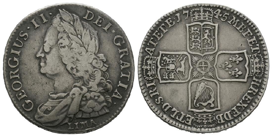 George II - 1745 LIMA - Halfcrown