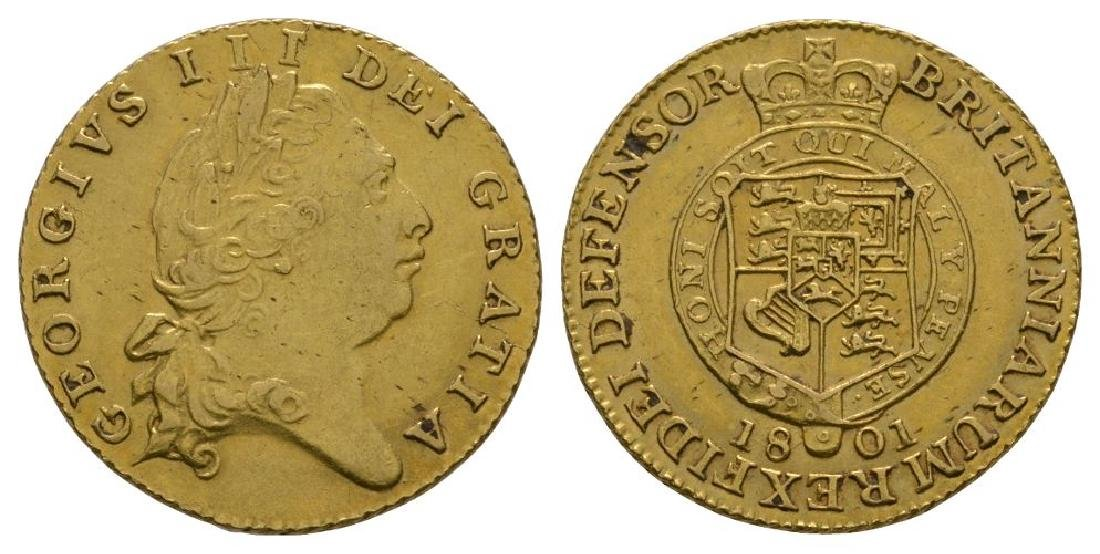 George III - 1801 - Gold Half Guinea
