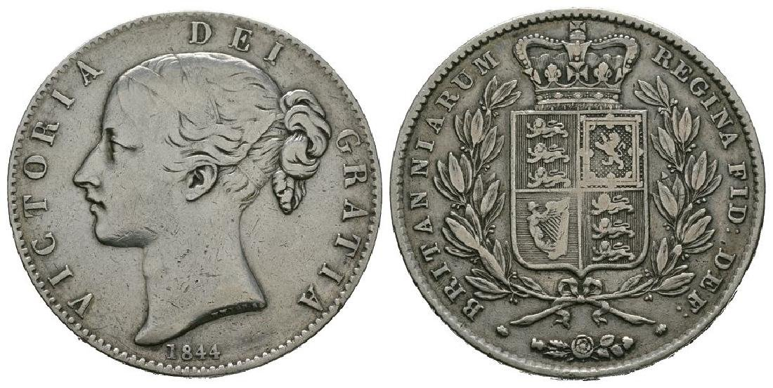 Victoria - 1844 - Mis-struck Edge Crown