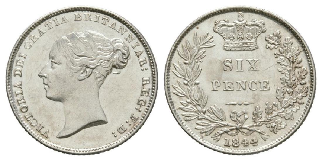 Victoria - 1844 - Sixpence