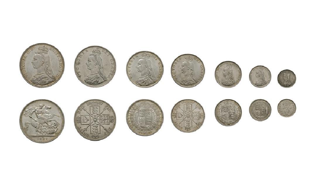 Victoria - 1887 - Specimen Silver Set [7]