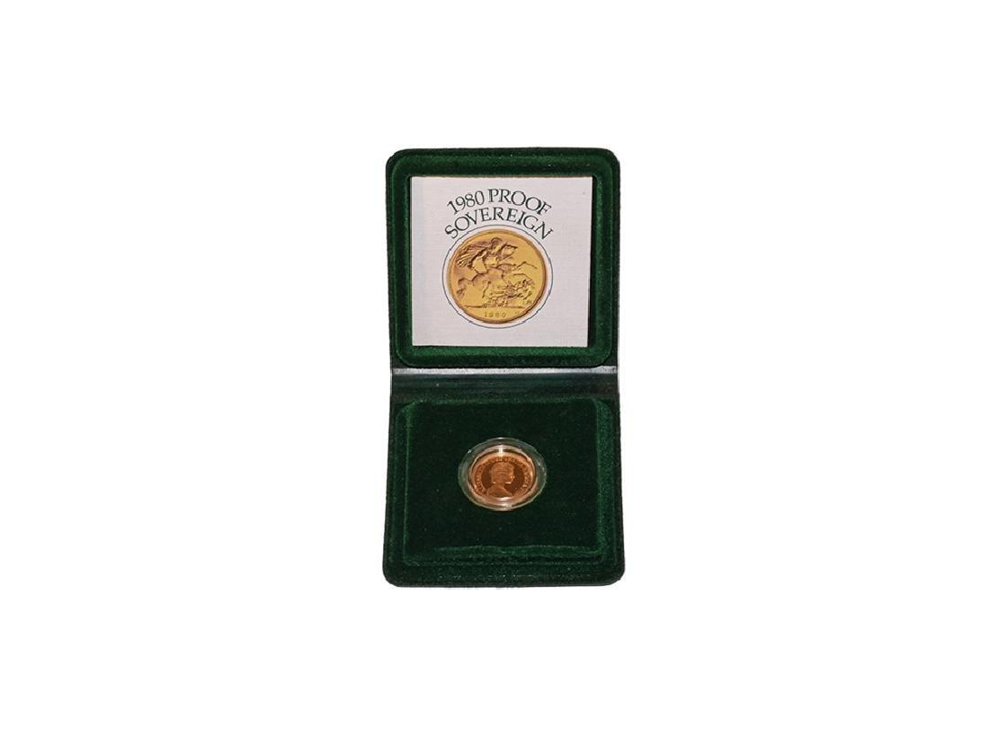 Elizabeth II - 1980 - Cased Proof Gold Sovereign