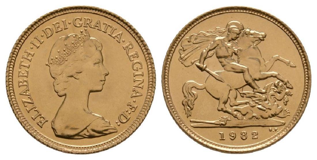 Elizabeth II - 1982 - Gold Half Sovereign