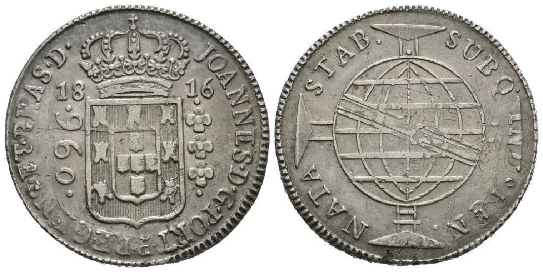 Brazil/Portugal - 1816B - 960 Reis O/S Mexico 8R
