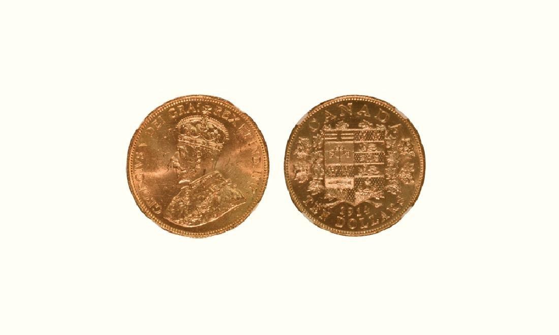 Canada - 1914 - 'B of C Hoard' Gold $10