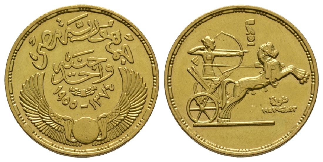 World Coins - Egypt - 1957 - Gold Pound