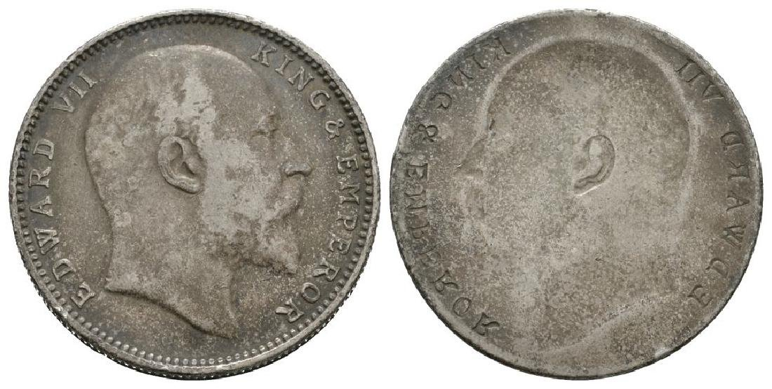 India - Edward VII - Obverse Brockage Rupee