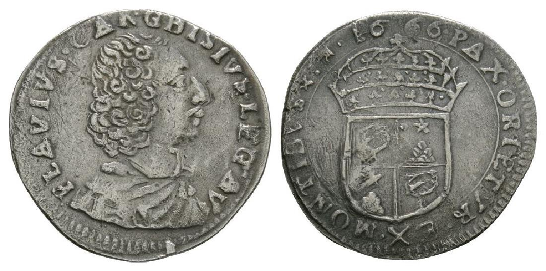 Italy - Papal States - Avignon - 1666 - Luigino