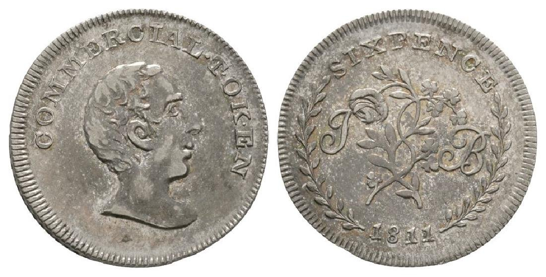 19th Century - Commercial - 1811 - Sixpence