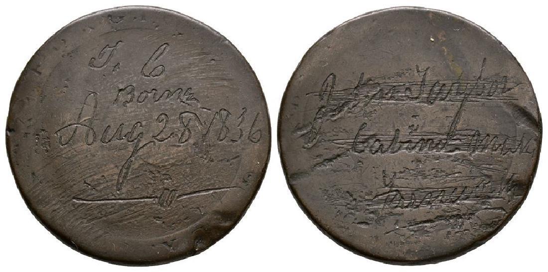 J C / JohnTaylor 1836 - Convict Love Token