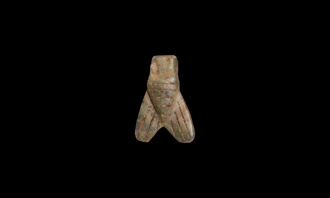 Egyptian Hardstone Fly Amulet