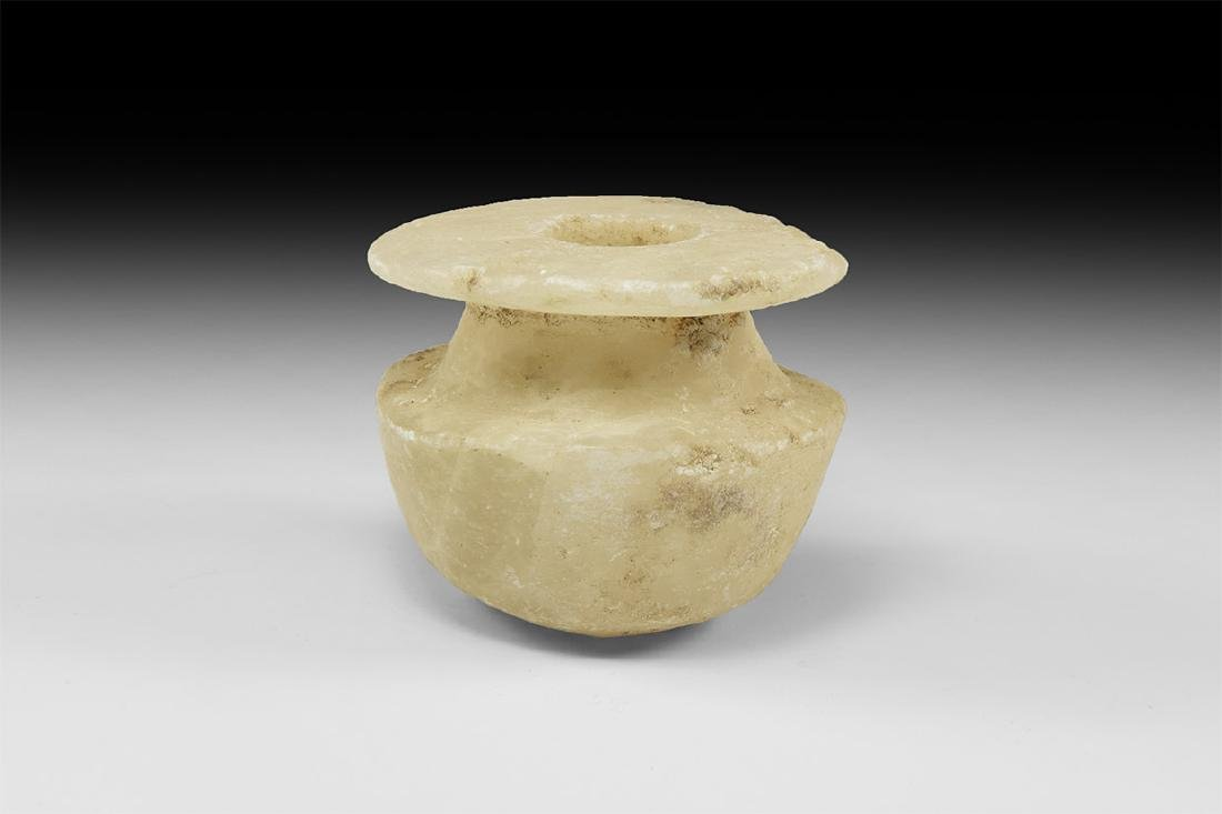 Egyptian Alabaster Kohl Jar