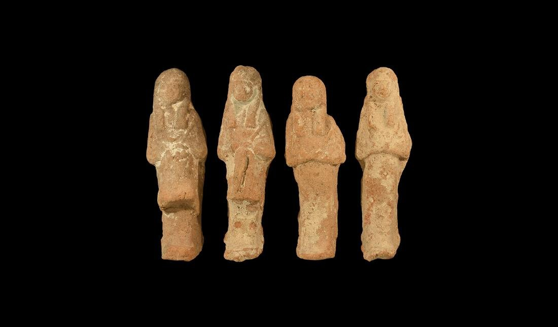 Egyptian Terracotta Shabti Group
