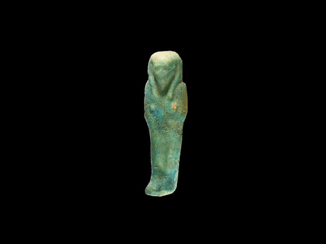 Egyptian Blue Glazed Shabti