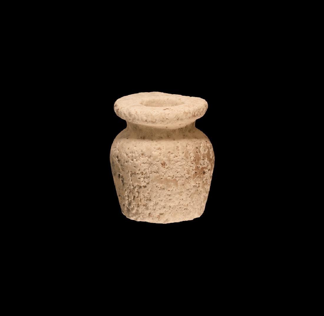 Egyptian Alabaster Kohl Pot