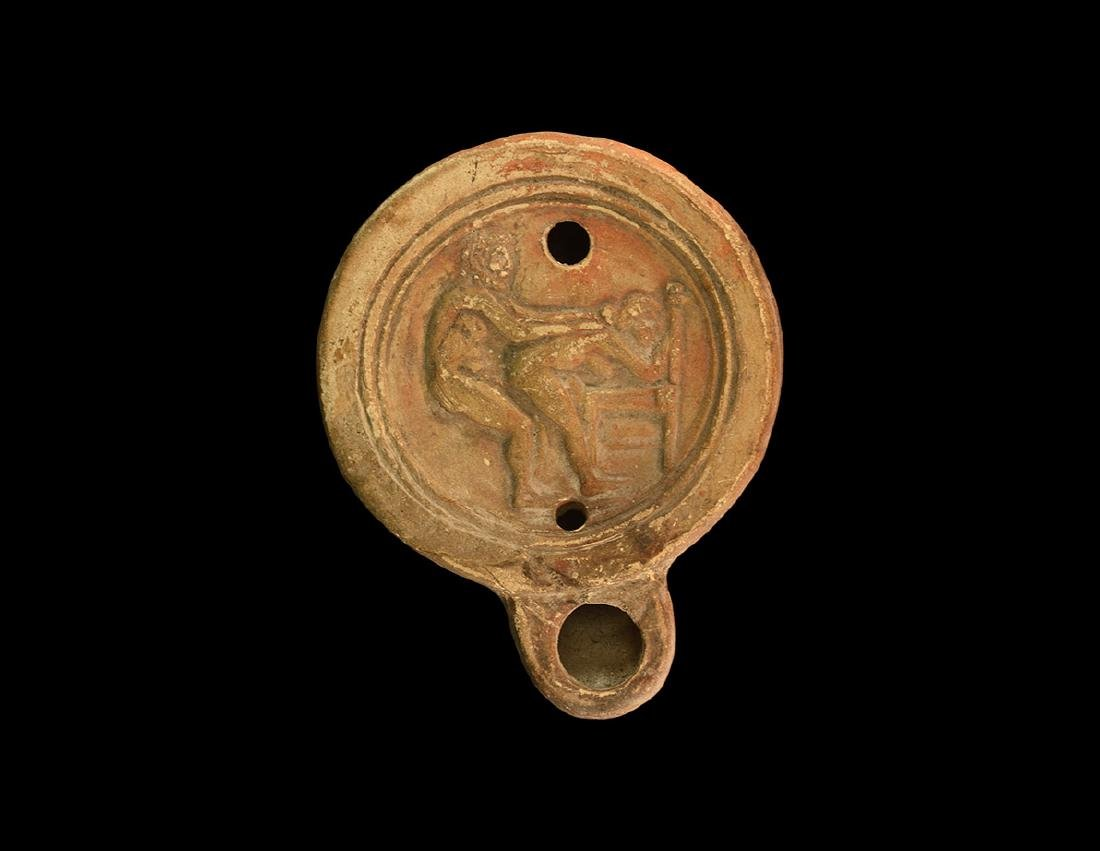 Roman Erotic Oil Lamp