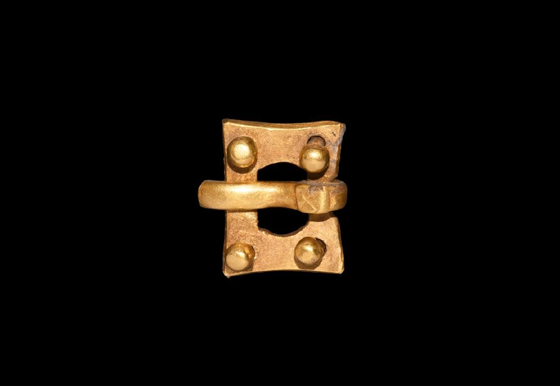 Roman Gold Military Buckle with Rivets