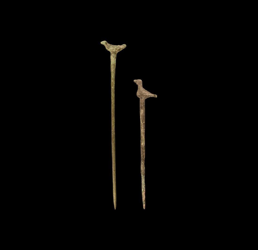 Roman Bird Headed Pin Group