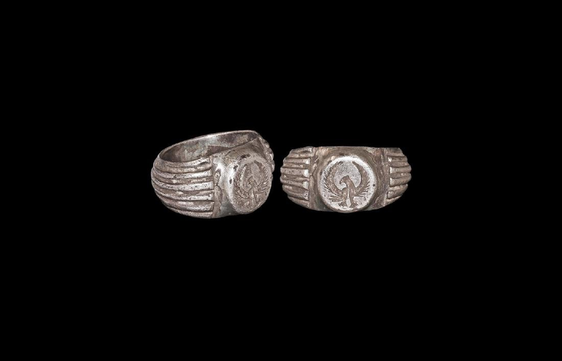 Roman Silver Ring with Spread Eagle