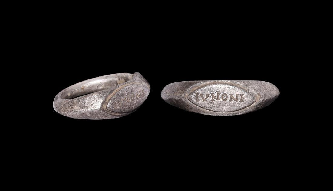 Roman Silver Ring with IVNONI