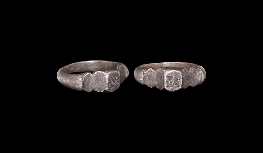 Roman Silver Ring with Monogram