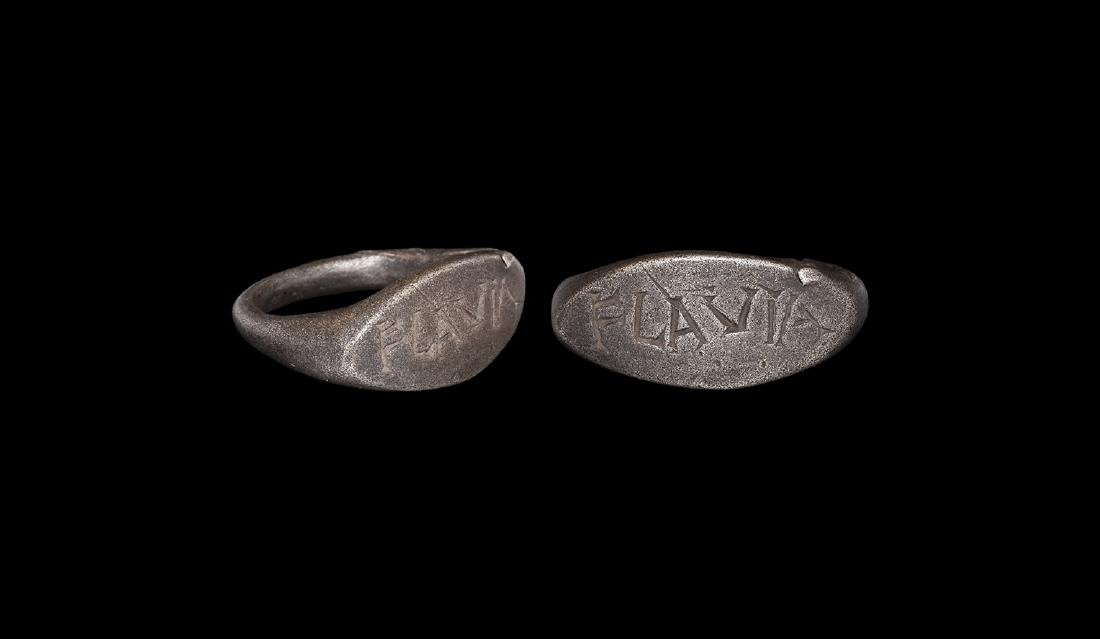 Roman Silver Ring with Inscription