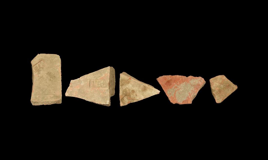 Roman Stamped Legionary Tile Fragment Group