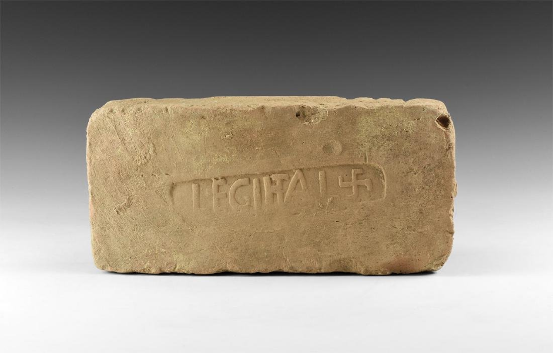 Roman Brick with LEGI ITAL and Swastika
