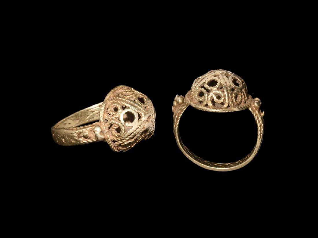 Byzantine Gold Openwork Ring